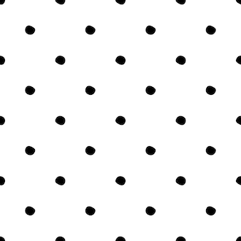 Seamless pattern with polka dot on white background.