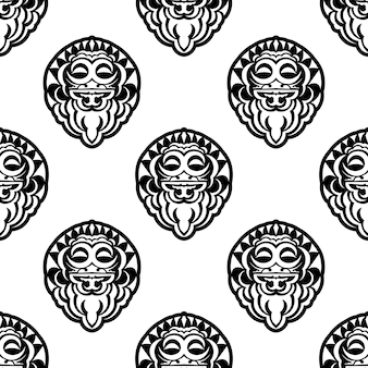 Seamless pattern with pollenesia masks.
