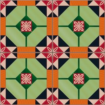 ポルトガルのazulejoタイルとのシームレスなパターン。