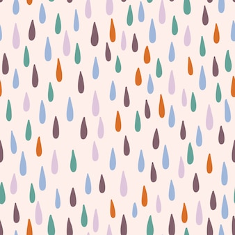 Seamless pattern with raindrops