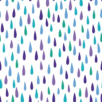 Seamless pattern with raindrops.