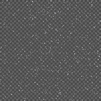 Seamless pattern with realistic falling snowflakes.