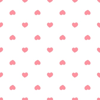 Seamless pattern with red hearts. valentines day