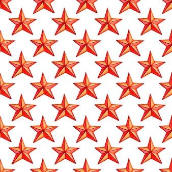 빨간 별 크리스마스 휴가 패턴 벡터 일러스트와 함께 완벽 한 패턴