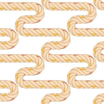 ロープ曲げとのシームレスなパターン。
