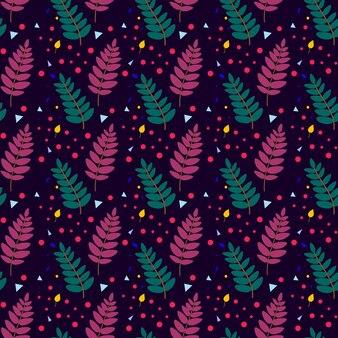 마가목 잎 원활한 패턴입니다. 벡터 일러스트 레이 션