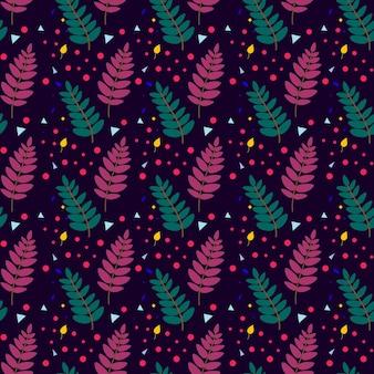 마가목 잎 벡터 일러스트와 함께 완벽 한 패턴