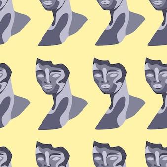 조각 초상화 현대 미술과 원활한 패턴