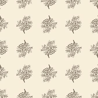 Seamless pattern with shrub.