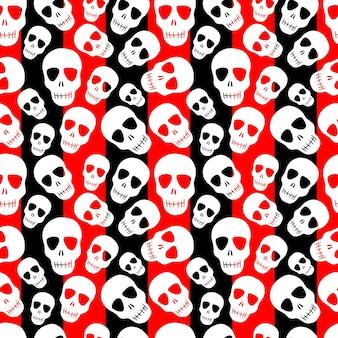 Seamless pattern with skullsdesign for halloween