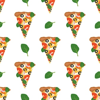 피자 조각으로 완벽 한 패턴입니다.