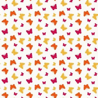 작은 화려한 나비와 함께 완벽 한 패턴입니다. 벡터 일러스트 레이 션.