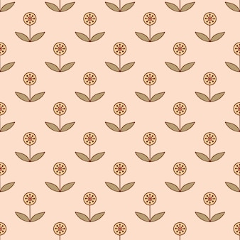 Seamless pattern with small decorative flowers