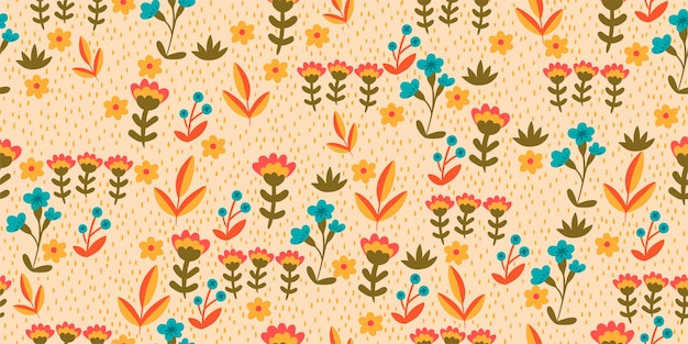 Бесшовный фон с мелкими цветочками.
