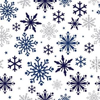 Бесшовный фон с фоном снежинки