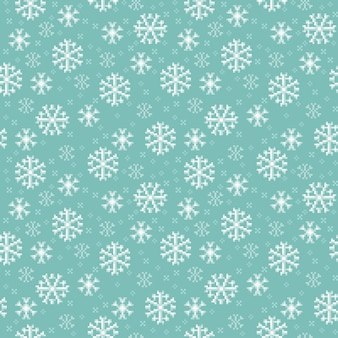Seamless pattern with snowflakes in  for christmas and winter