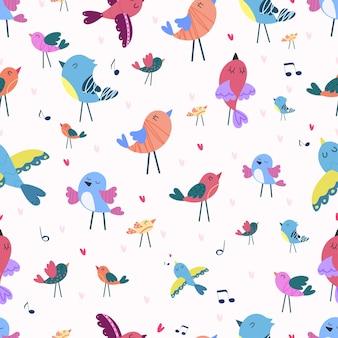 鳴き鳥とのシームレスなパターン