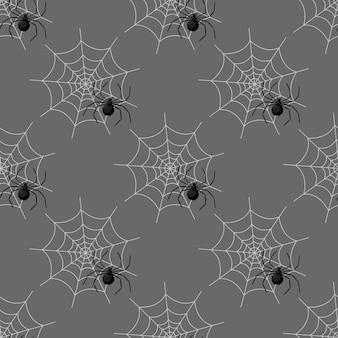 할로윈에 거미줄과 함께 완벽 한 패턴입니다.