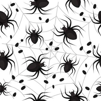 할로윈 거미와 함께 완벽 한 패턴