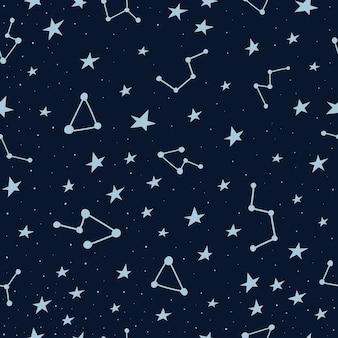 Seamless pattern with starmap