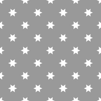 회색 표면 벡터 일러스트 레이 션에 묘사 된 별과 원활한 패턴