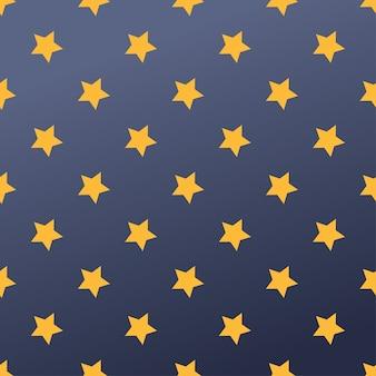 Бесшовный фон с иллюстрацией звезд.