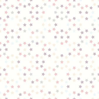 Seamless pattern with stars on white background
