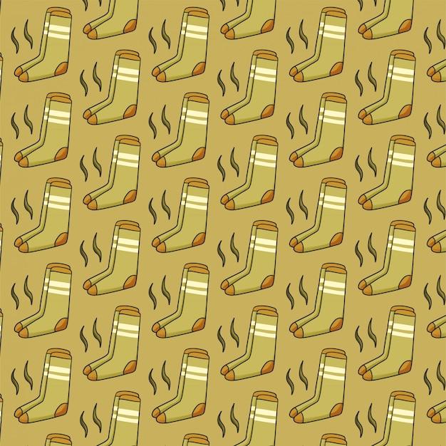 Seamless pattern with stinky socks