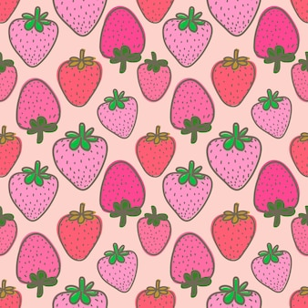 Seamless pattern with strawberry for gift wrap design.
