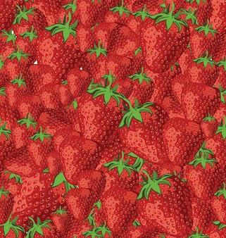 흰색 바탕에 딸기와 함께 완벽 한 패턴
