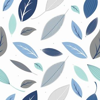 スタイリッシュな葉とのシームレスなパターン