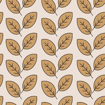 Seamless pattern with stylized leaves. vector illustration