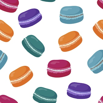 Seamless pattern with sweet macaroons