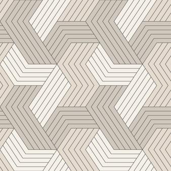Seamless pattern with symmetric geometric lines.