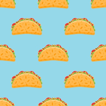 Seamless pattern with taco.