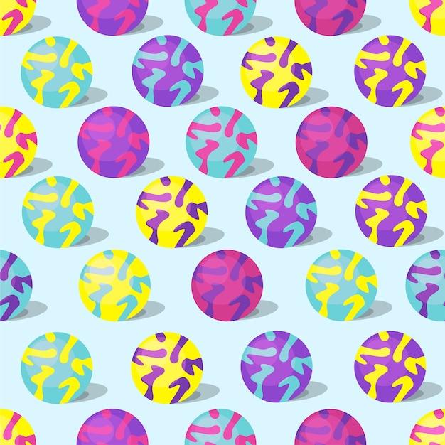 장난감 공 완벽 한 패턴입니다. 벡터 일러스트 레이 션.