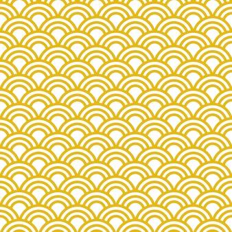 日本の伝統的な波とのシームレスなパターン