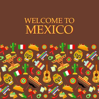 전통적인 멕시코 특성을 가진 완벽 한 패턴