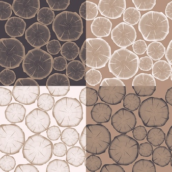 Seamless pattern with tree rings.