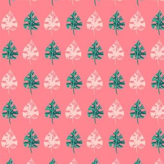 열 대 잎으로 완벽 한 패턴