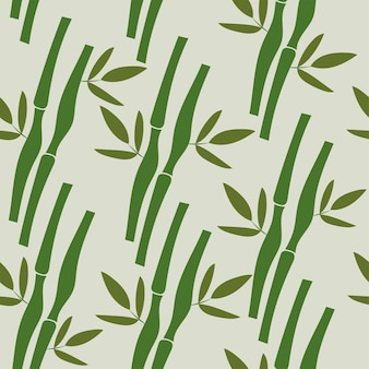Seamless pattern with tropical plants bamboo and leaves . vector nature illustration
