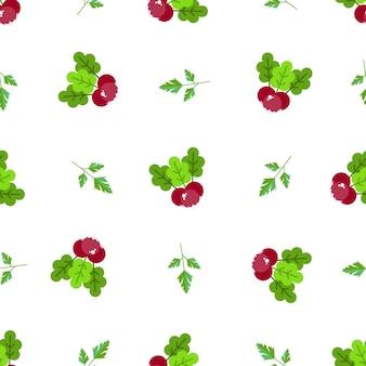 야채와 과일과 함께 완벽 한 패턴