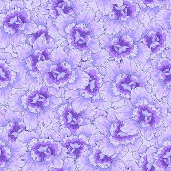 보라색 꽃으로 완벽 한 패턴입니다. 인쇄, 직물, 섬유, 벽지 질감.