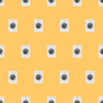 Бесшовный фон со стиральной машиной. бесконечный фон с рисунком стиральной машины. подходит для фонов, оберток, оберточной бумаги и распечаток. вектор.