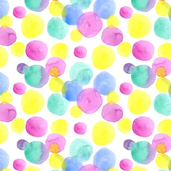 Seamless pattern with watercolor dots