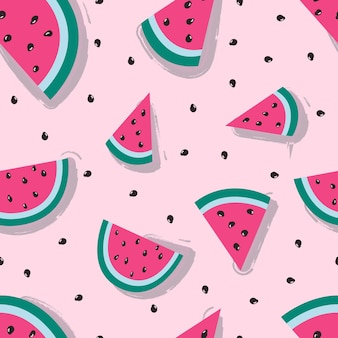 Seamless pattern with watermelon colorfull summer pattern for textile