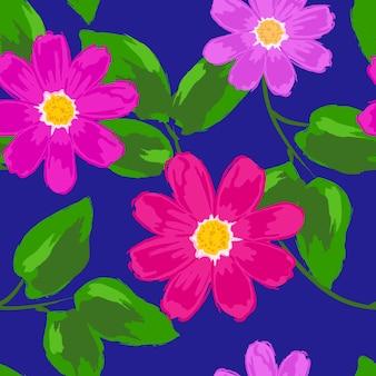 야생 꽃으로 완벽 한 패턴