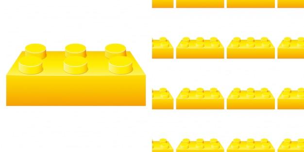 黄色のブロックとのシームレスなパターン