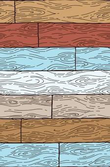 シームレスパターン。ウッドの背景。