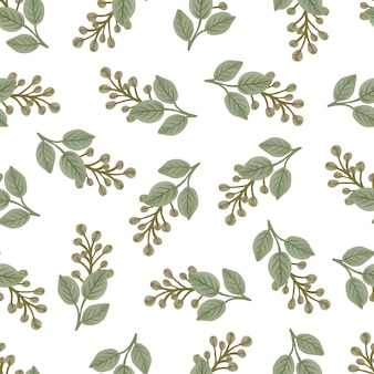 Seamless pattern of yellow bud for fabric design